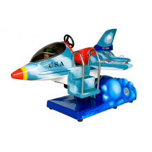 Fighter Jet Plane blue right side view