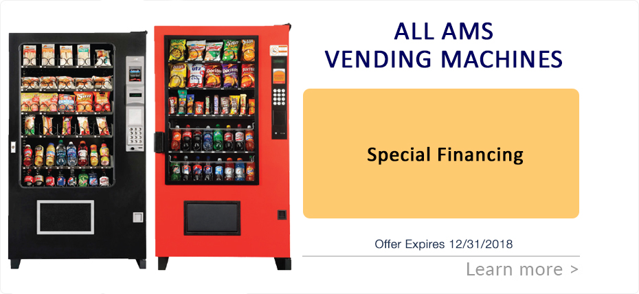 Financing Special on All AMS Vending Machines