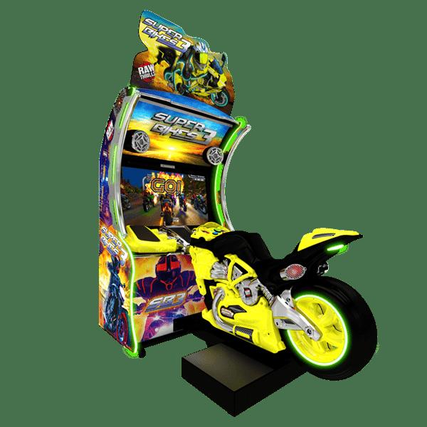 Super Bikes 3 Yellow Bike Raw Thrills