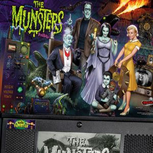 The Munster Pro Pinball Top of Cabinet Stern