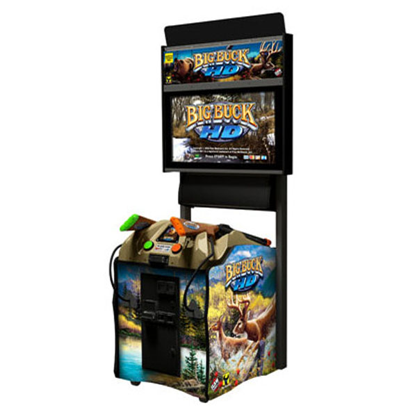 "Big Buck HD 32"" Dedicated Used Arcade Game Raw Thrills Play Mechanix"