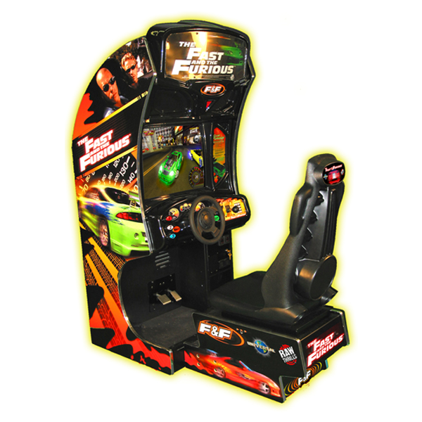 """The Fast and the Furious 27"""" Sit Down Used Cabinet Raw Thrills"""
