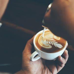 Office Coffee Machine Latte Pour