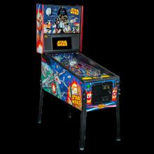 Star Wars Comic Art Pro Pinball Machine Angled Right by Stern Pinball
